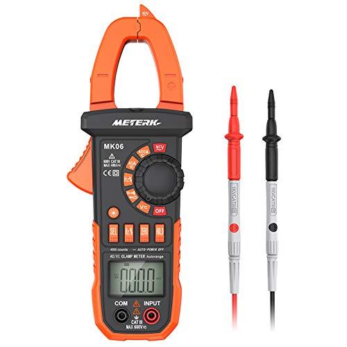 Meterk Digital Clamp Meter Multimeter 4000 Counts...