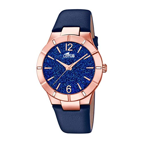 Lotus Damen Analog Quarz Uhr mit Leder Armband 18610/4