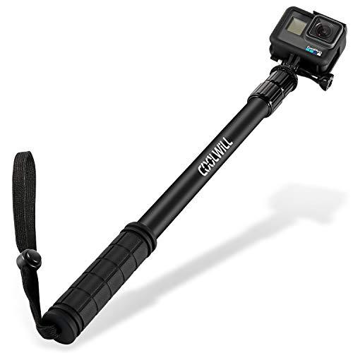 Coolwill PL-3829 GoPro Bastone selfie stick per Action Cam, 40 in lega di alluminio Stick per GoPro Hero7, Hero 6/5 / Session/Fusion/Apeman/Rollei Actioncam