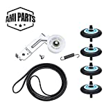 AMI PARTS Dryer Repair Kit Compatible for Samsung- DC97-16782A Dryer Roller 6602-001655 Dryer Belt, DC93-00634A Dryer Idler Pulley [Upgraded Ball Bearings] & DC61-01215B Tension Spring