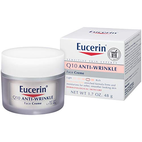 Eucerin Q10 Anti-Wrinkle Face Cream - Fragrance Free, Moisturizes for Softer Smoother Skin - 1.7 Ounce (Pack of 1)