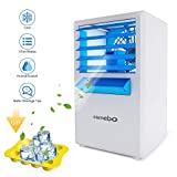 Lemebo Portable Air Conditioner Fan, Mini Personal Evaporative Air Cooler Fan Misting Swamp Cooler Desk Humidifier Fan for Office Dorm Nightstand