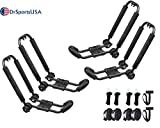 DrSportsUSA Universal Foldable J-Bar 2 Pairs Kayak Rack Folding Car Roof Top Carrier for Canoe, SUP, Kayaks, Surfboard and Ski Board Rooftop Mount on SUV, Car and Truck