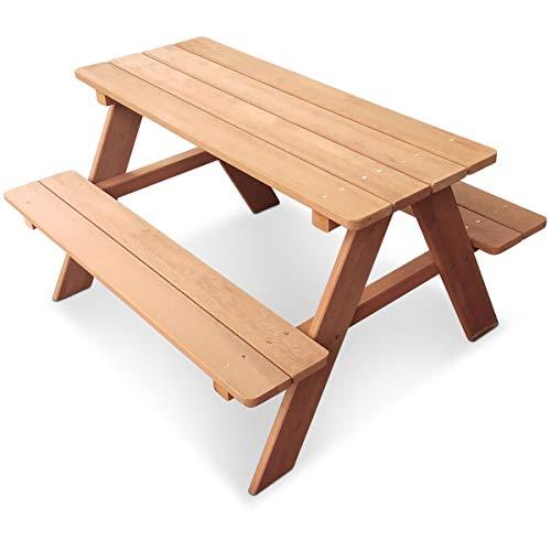 Coemo Das Besondere finden Stabile Kinder-Sitzgruppe Picknicktisch Spieltisch Gartentisch Holz