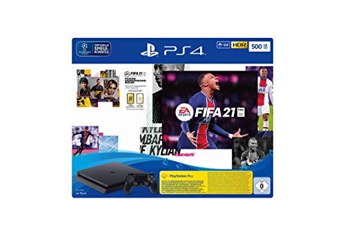 PlayStation 4 Slim Konsole - 500GB Jet Black: EA Sports FIFA 21-Bundle