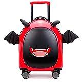 THWJSH Maleta de viaje para niños con ruedas de 16 pulgadas, color azul Rojo rosso talla