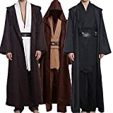 Wecos Adult Halloween Cosplay Costume Tunic Robe Outfit Three Versions (Medium, Black(Tunic))
