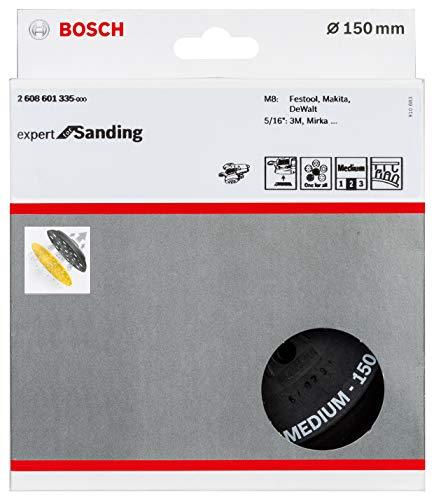 Bosch Professional 2608601335 Plato multiperforado (Ø 150 mm, Medium, Velcro, Accesorios lijadoras excéntricas), 0 W, 0 V, Color:, Size