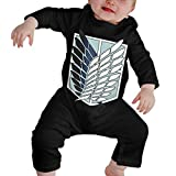 BilliePhillips Attack On Titan Baby Classic Long Sleeve Creeping SuitBaby Suit 6M Black