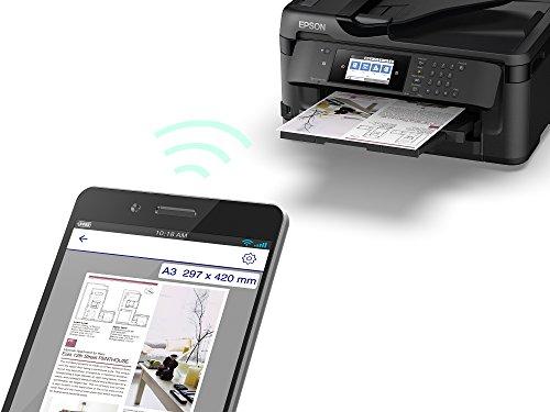Product Image 1: Epson WorkForce WF-7710DWF, Stampante Multifunzione 4-in-1, A3 Fronte/Retro, Connettività Wi-fi e NFC, Touch Screen da 10.9 cm, 18 Pagine al Minuto