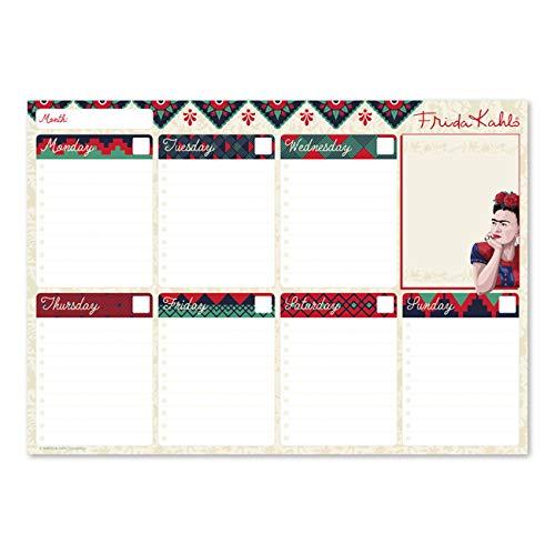 Bloc Planificador Semanal A4 Frida Kahlo Surréalisme Collection