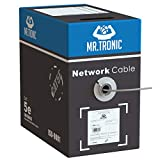Mr. Tronic 305m Ethernet Network Bulk Cable   CAT5E, AWG24, CCA, UTP   Colour Grey (305 Meters)