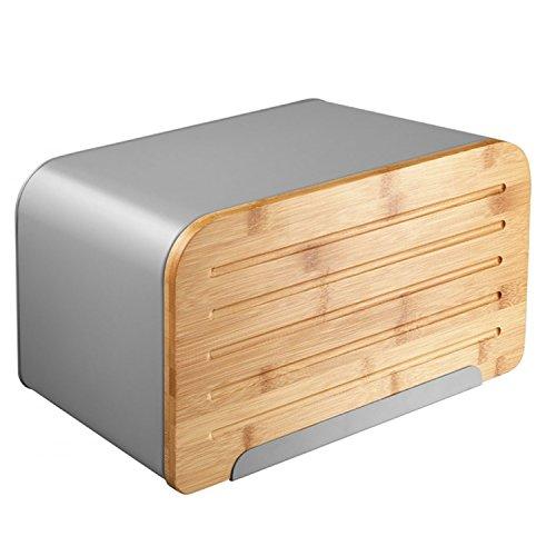 Ambition Nordic Brotbehälter mit schneidebrett Brotkasten (Schwarz)