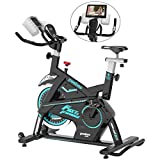 pooboo Magnetic Exercise Bike Belt Drive Indoor Cycling Bike, Stationary Bike with Pad/Phone Mount,...