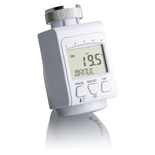 SEBSON Thermostat de radiateur, Digital, programmable, fonction minuterie Minuteur 24h, Eco, Fenêtre ouverte', sécurité enfant, Danfoss Adaptateur (RA, RAV, RAVL), chauffage Thermostat