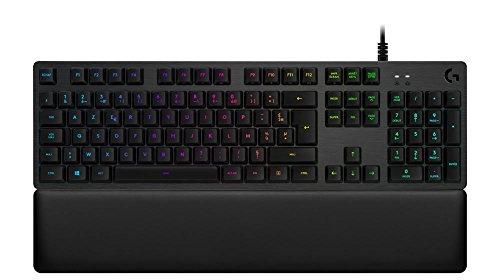 Logitech G513 Clavier Gaming Mécanique Rétroéclairé RGB avec Switchs Tactiles Romer-G (Carbone - Layout AZERTY Français)