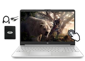 2020 Newest HP 15.6 FHD IPS Touchscreen Laptop,10th Gen Intel Quad-Core i5-1035G1 (Up to 3.60GHz, Beat i7-8550U), 32GB RAM, 1TB SSD, Fast Charge, Webcam, HDMI, USB-A&C, WiFi, Win10,w/GM Accessories