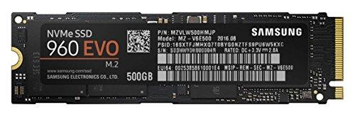 Samsung SSD 500GB 960EVO M.2 Type2280 PCIe3.0×4 NVMe1.2 3年保証 正規代理店保証品 MZ-V6E500B/IT