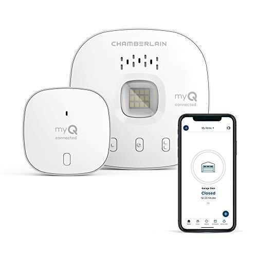 myQ Chamberlain Smart Garage Door Opener - Wireless Garage Hub and Sensor with Wifi & Bluetooth…