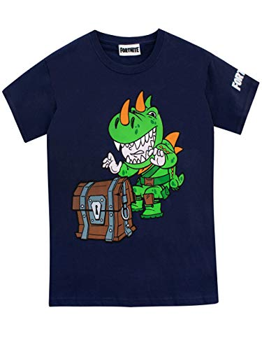 Fortnite Camiseta de Manga Corta para Niños Azul 12-13 Años