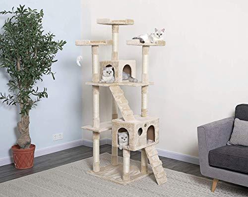 Go Pet Club 72' Cat Tree Condo Furniture -...