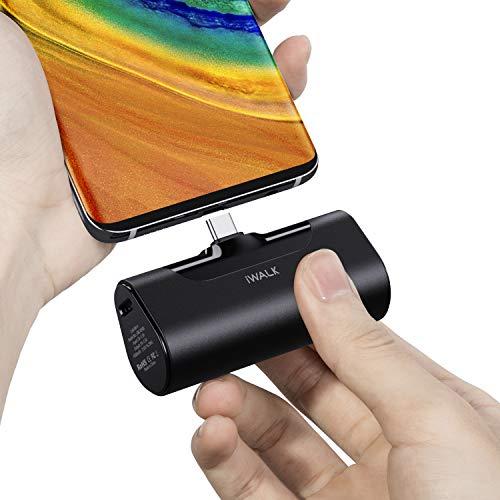iWALK 超小型 モバイルバッテリー 4500mAh USB-C コネクター内蔵 直接充電 コードレス コンパクト Galaxy/X...