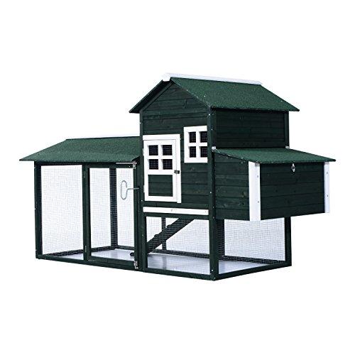 "PawHut 83"" Wooden Backyard Chicken Coop with Nesting Box"