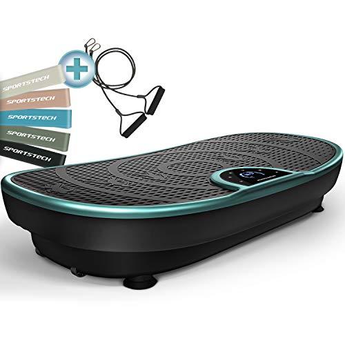 Plateforme Vibrante VP250 avec un design élégant   combustion des graisses et développement musculaire   moteur silencieux   7+1 programmes d'entraînement, y compris option yoga   avec Bluetooth