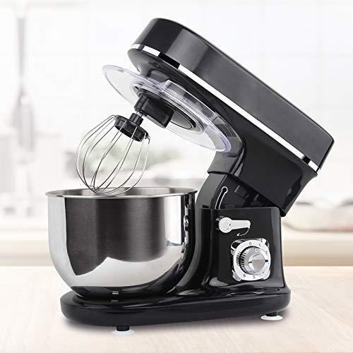 Molino Stand Mixer 1300 Watt Nero Macchina da cucina e impastatrice con doppio gancio impastare,...