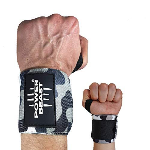 Power Beast Muñequeras Crossfit   Wrist Wraps Elásticas para Pesas,...