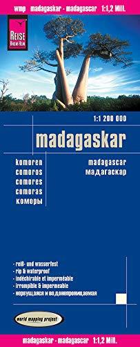Madagascar, mapa de carreteras impermeable. Escala 1:1.200.000. Reise Know-How.