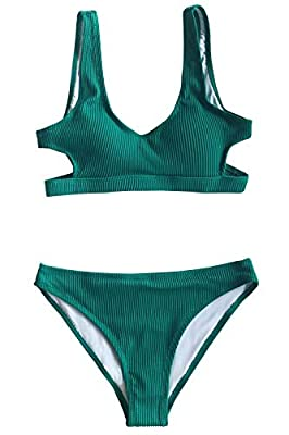 Design: Cutout and Scoop Neck Bikini Top. Low Rise Bikini Bottom. About Cup Style: with Padding Bra Garment Care: Regular Wash. Recommend with Cold Water. Do not Use Bleach. Do not Tumble Dry. Occasion: Best Holiday Gifts for Mom, Wife, Girlfriend or...