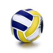 Ciondolo a forma di palla da pallavolo, compatibile con braccialetti Pandora, in argento Sterling 925 Pallavolo