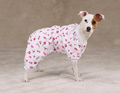 """Large fits 16""""-20"""" Length Chest fits 24""""-28"""" machine washable You will love how cute and cuddly your dog feels in flannel pajamas"""