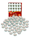 Ner Mitzvah Mini Tea Light Candles - 50 Bulk Pack - White Unscented Travel, Centerpiece, Decorative...