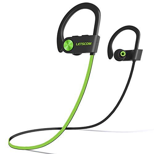 LETSCOM Bluetooth Headphones V5.0 IPX7 Waterproof,...