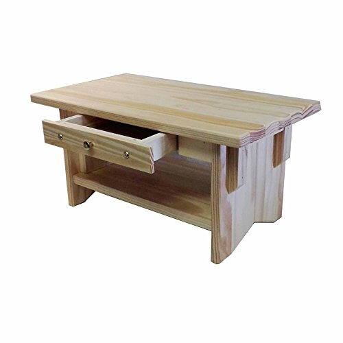 Personal Altar Table w/Display Shelf: Unfinished Pine 20'×11'×10' Tall ~ EarthBench (Pine 10' w/Drawer)
