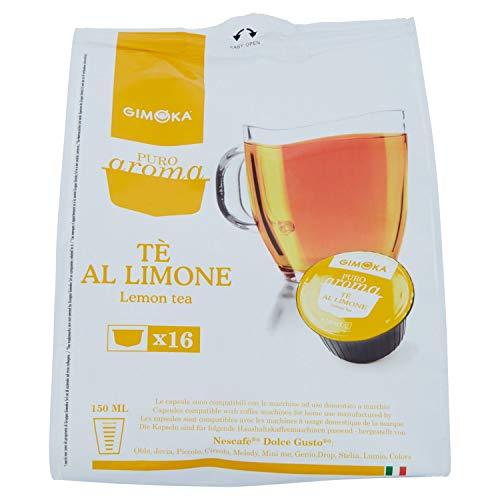 64 Capsule Gimoka Compatibili con Nescafé* Dolce Gusto* - 4 Confezioni da 16 Capsule - Tè al limone