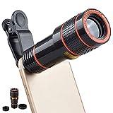 Yolistar 12x Lente per Telescopio, Teleobiettivo Monoculare HD, Kit Obbiettivi Smartphone, Universal Phone Obiettivo Fotocamera per La Maggior Parte Degli...