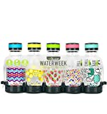 Reduce Water Bottle Set, 14 oz – WaterWeek Refillable Water Bottles with Twist Off Cap – 5 Reusable Water Bottles for Kids, Plus Fridge Tray For Your Reusable Water Bottle Set – Berry Fun Set