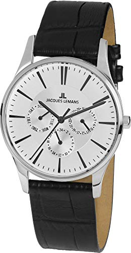 Jacques Lemans Unisex-Uhren Analog Quarz One Size Schwarz/Weiß 32016493