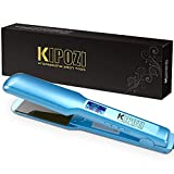 KIPOZI Pro Nano Titanium Flat Iron Hair Straightener with Digital LCD Display, Heats Up Instantly, A High Heat of 450 Degrees, Dual Voltage, 1.75 Inch Wide Plate
