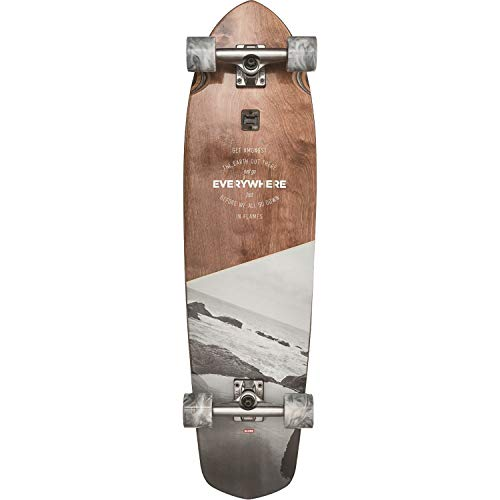 Globe Skateboards Blazer XL Longboard Complete Skateboard, Black/Red Forester, 36