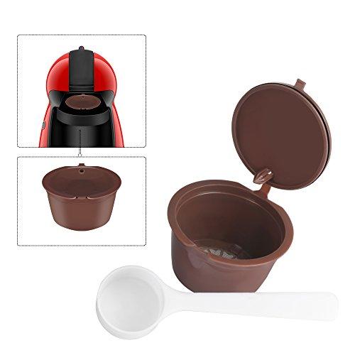OurLeeme ricaricabile riutilizzabili Dolce Gusto caff?in capsule Compatibile con Nescafe Genio, Piccolo, Esperta e Circolo (1PCS)