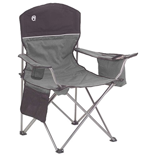 Coleman Camping Chair with 4 Can Cooler | Chair with Built In 4 Can Cooler, Gray
