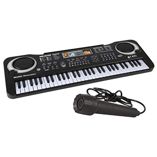 Outgeek Kids Keyboard Piano Simulated 61-Key Creative Musical Piano with Microphone
