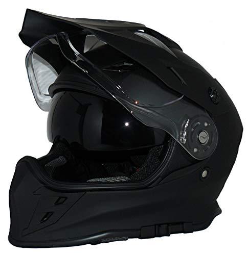 Protectwear Cross Enduro Casque Moto intégrée et visière V331-SM-M Crosshelmet V331-SM Hommes, Noir, M