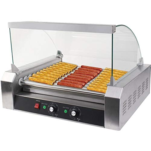 Safstar Commercial 30 Hot Dog 11 Roller Machine Stainless...