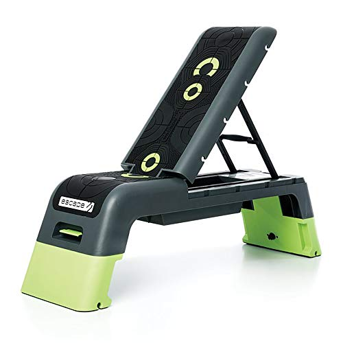 Escape Fitness Multi Purpose Fitness Station Deck for Step, Weight Training, Bootcamps, and More with Backrest and...