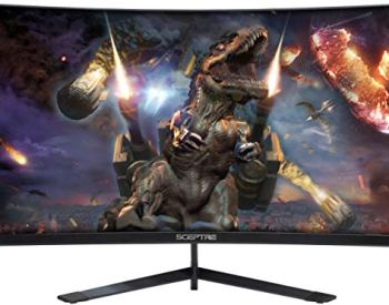 Sceptre 24-Inch Curved 144Hz Gaming LED Monitor Frame-Less FPS RTS FreeSync DisplayPort HDMI, Build-in Speakers Machine Black 2020 (24' Curved 144Hz)